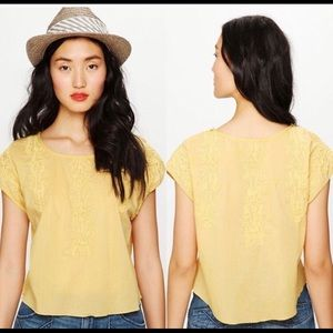Free People Embroidered Quills Crop Top Sz XS